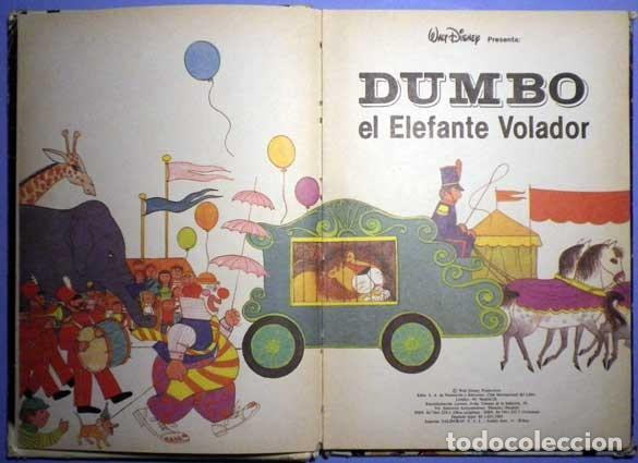 Libros antiguos: Dumbo el elefante volador walt Disney presenta 1985 club internacional del libro - Foto 4 - 141965498