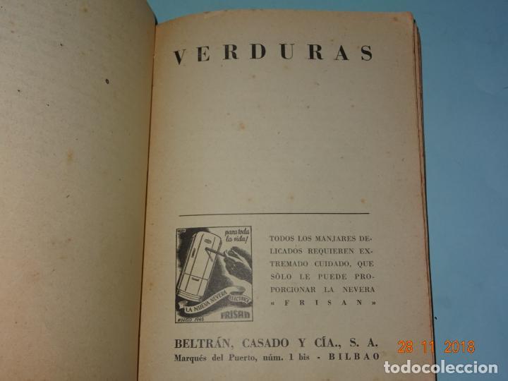 Libros antiguos: Antiguo Libro MI COCINA VIZCAINA ECONÓMICA de Mercedes Lezama Viuda de Porset - 6ª Edición - Foto 8 - 156665486