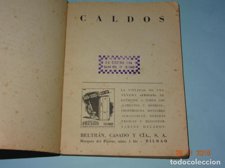 Libros antiguos: Antiguo Libro MI COCINA VIZCAINA ECONÓMICA de Mercedes Lezama Viuda de Porset - 6ª Edición - Foto 9 - 156665486
