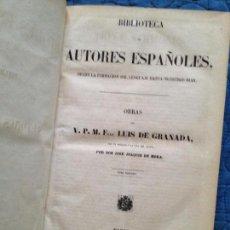Libros antiguos: OBRAS DEL PADRE FRAY LUIS DE GRANADA-TOMO III. Lote 142001530
