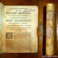Libros antiguos: VIDA, Y OBRAS POSTHUMAS DE DON FRANCISCO DE QUEVEDO, CAVALLERO DEL ORDEN... : PARTE TERCERA. Lote 142147902