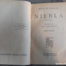 Libros antiguos: MIGUEL DE UNAMUNO. NIEBLA (NIVOLA) EDITORIAL RENACIMIENTO. 1928. SEGUNDA EDICIÓN. Lote 142181678