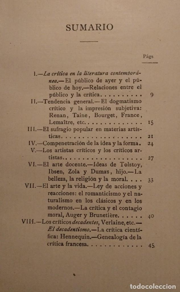Libros antiguos: Examen de críticos. Francisco A. de Icaza. 1894. - Foto 3 - 142214786