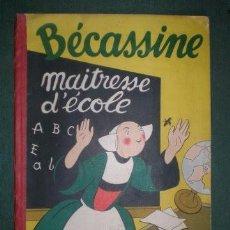 Libros antiguos: CAUMERY: BECASSINE, MAITRESSE D'ECOLE. 1921. ILLUSTRATIONS DE PINCHON. Lote 142257078