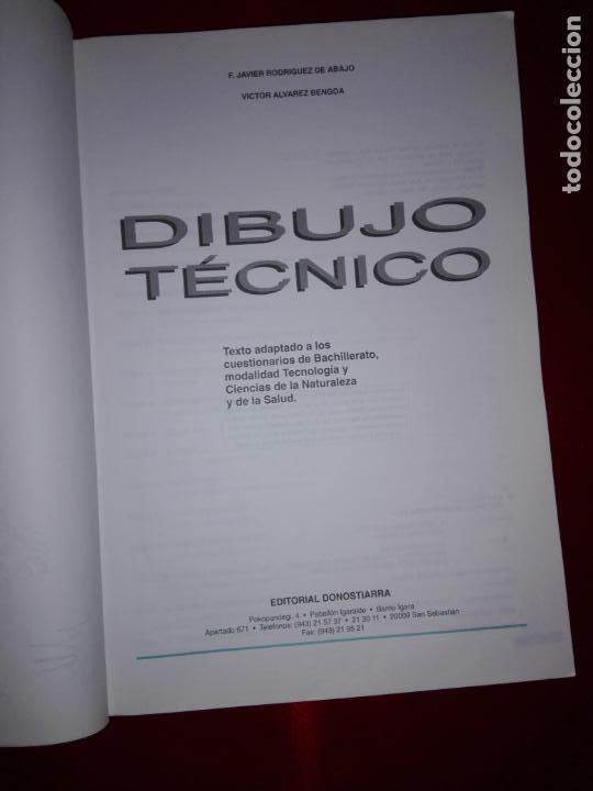 Libros antiguos: libro-dibujo técnico.editorial donostiarra-f.javier rodriguez de abajo-1995-buen estado-ver fotos - Foto 3 - 142470046