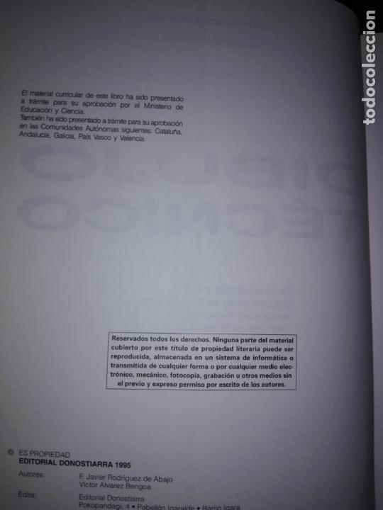 Libros antiguos: libro-dibujo técnico.editorial donostiarra-f.javier rodriguez de abajo-1995-buen estado-ver fotos - Foto 6 - 142470046