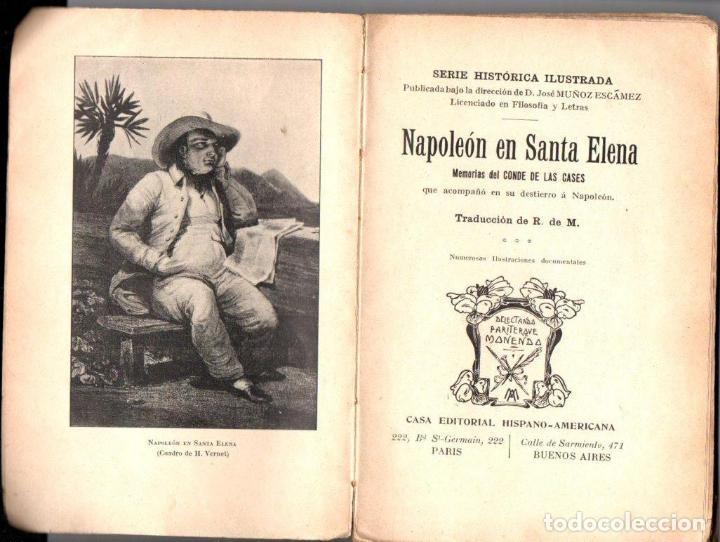 Libros antiguos: LAS CASES : NAPOLEON EN SANTA ELENA (HISPANO AMERICANA, PARÍS, c. 1900) - Foto 2 - 142589738