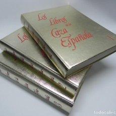 Libros antiguos: LOS LIBROS DE LA CAZA ESPAÑOLA, OBRA COMPLETA CON 3 TOMOS. LA CAZA ESCRITA POR UN RESPETADO CONJUNTO. Lote 142645910