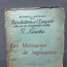 Libros antiguos: LES MASACRES DE SEPTEMBRE 1916. Lote 142705292