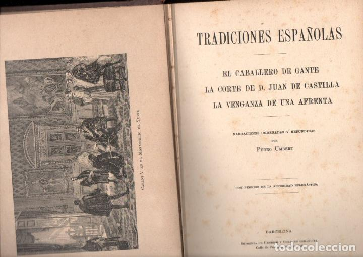 Libros antiguos: UMBERT : TRADICIONES ESPAÑOLAS (HENRICH, 1913) - Foto 2 - 142711058