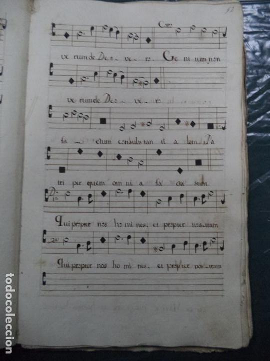 Libros antiguos: Curioso Cantoral Português Séc XVIII - Foto 23 - 142726294
