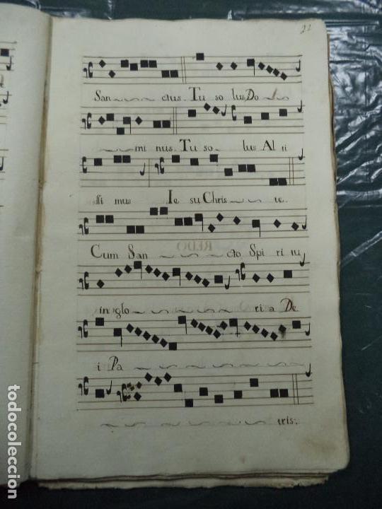 Libros antiguos: Curioso Cantoral Português Séc XVIII - Foto 43 - 142726294