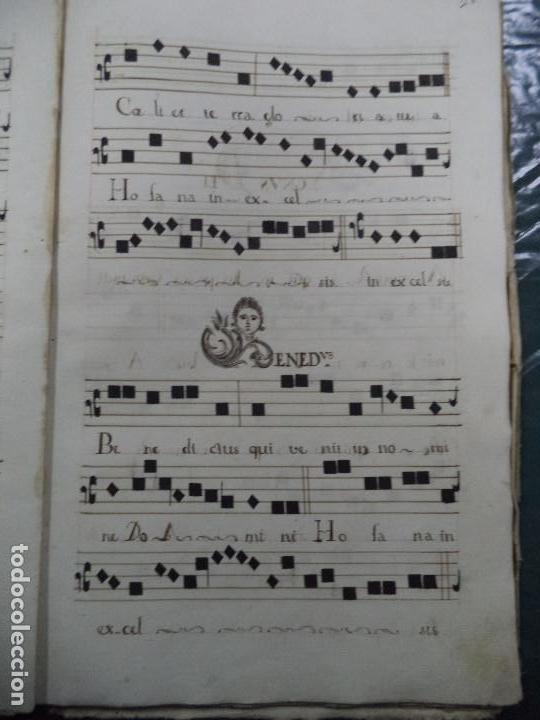 Libros antiguos: Curioso Cantoral Português Séc XVIII - Foto 51 - 142726294