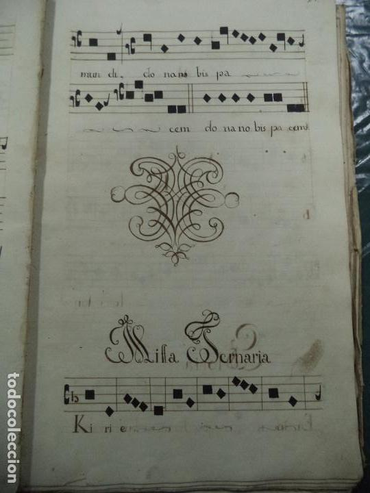 Libros antiguos: Curioso Cantoral Português Séc XVIII - Foto 54 - 142726294