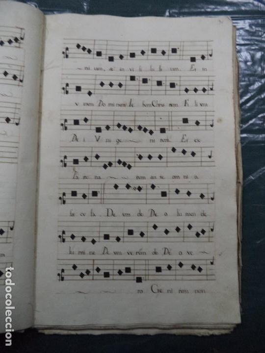 Libros antiguos: Curioso Cantoral Português Séc XVIII - Foto 60 - 142726294