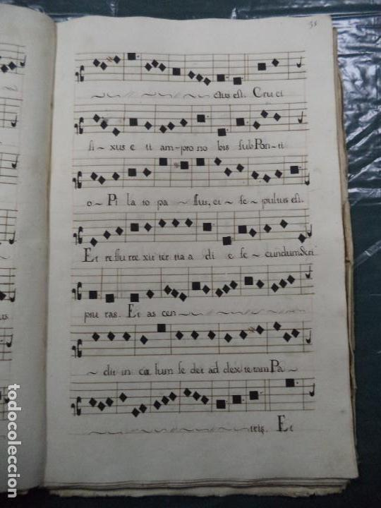 Libros antiguos: Curioso Cantoral Português Séc XVIII - Foto 62 - 142726294