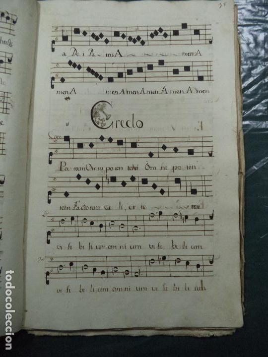Libros antiguos: Curioso Cantoral Português Séc XVIII - Foto 77 - 142726294