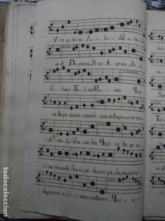 Libros antiguos: Curioso Cantoral Português Séc XVIII - Foto 95 - 142726294