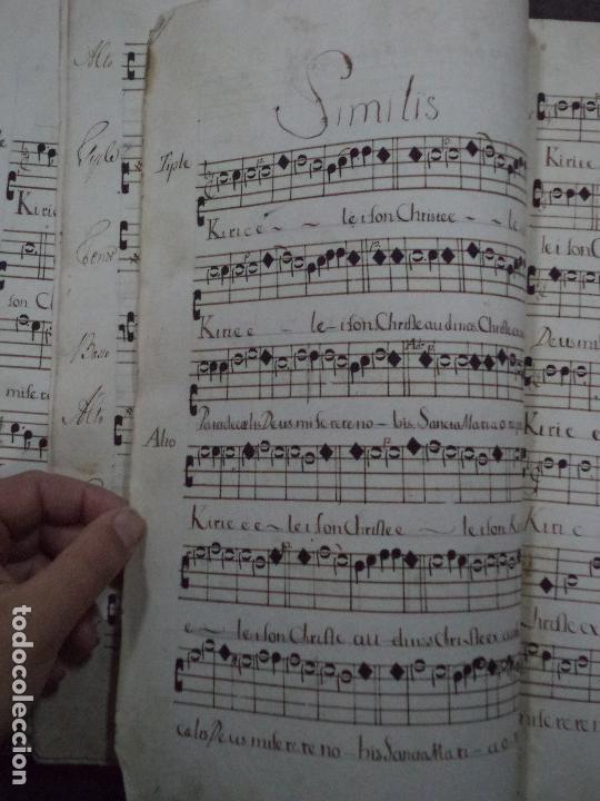 Libros antiguos: Curioso Cantoral Português Séc XVIII - Foto 144 - 142726294