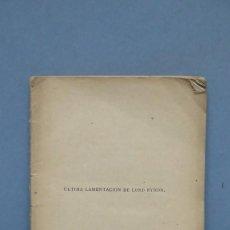 Libros antiguos: 1879.- ULTIMA LAMENTACION DE LORD BYRON. GASPAR NUÑEZ DE ARCE. Lote 142807854