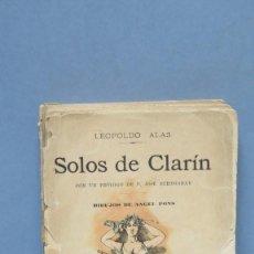 Libros antiguos: 1891.- SOLOS. LEOPOLDO ALAS CLARIN. Lote 142844574