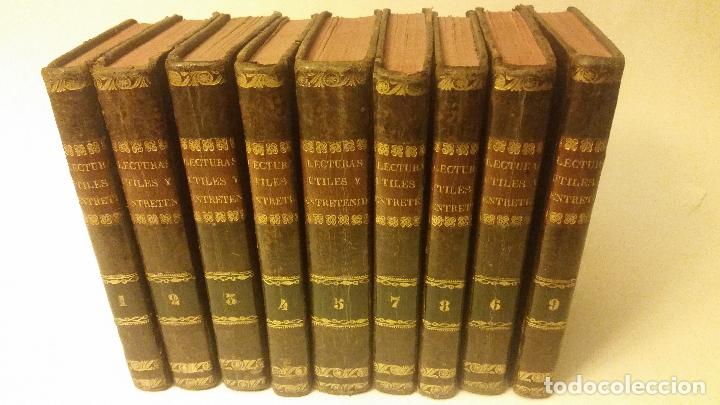 1800-1816 CESPEDES Y MONROY - LECTURAS ÚTILES Y ENTRETENIDAS - 9 TOMOS (Libros Antiguos, Raros y Curiosos - Literatura - Otros)