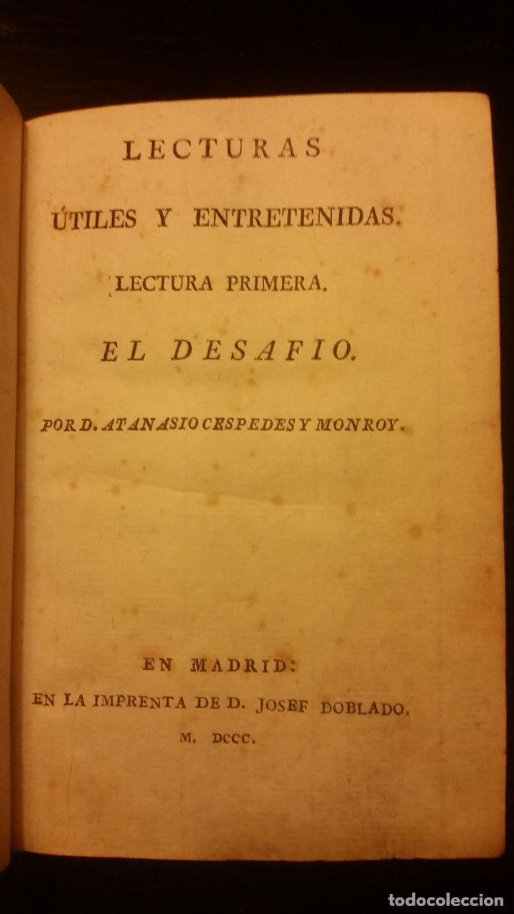 Libros antiguos: 1800-1816 CESPEDES Y MONROY - LECTURAS ÚTILES Y ENTRETENIDAS - 9 TOMOS - Foto 3 - 142849582