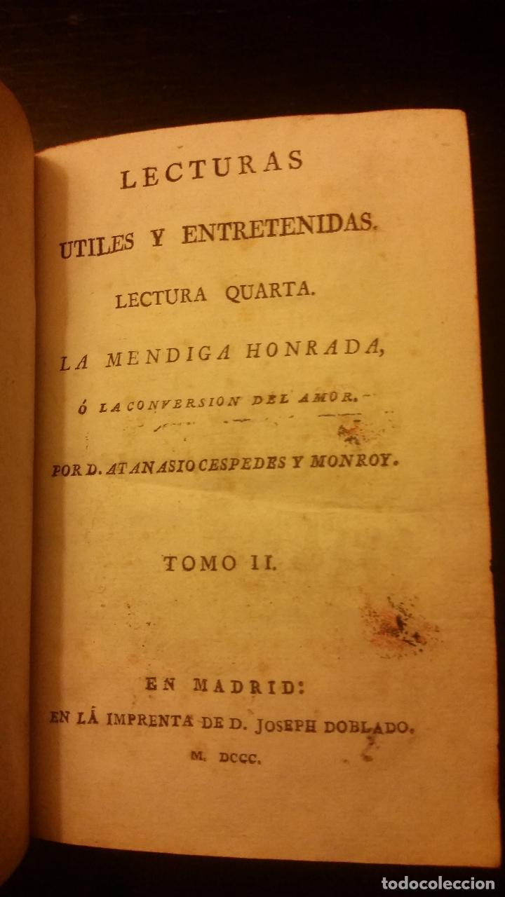 Libros antiguos: 1800-1816 CESPEDES Y MONROY - LECTURAS ÚTILES Y ENTRETENIDAS - 9 TOMOS - Foto 7 - 142849582
