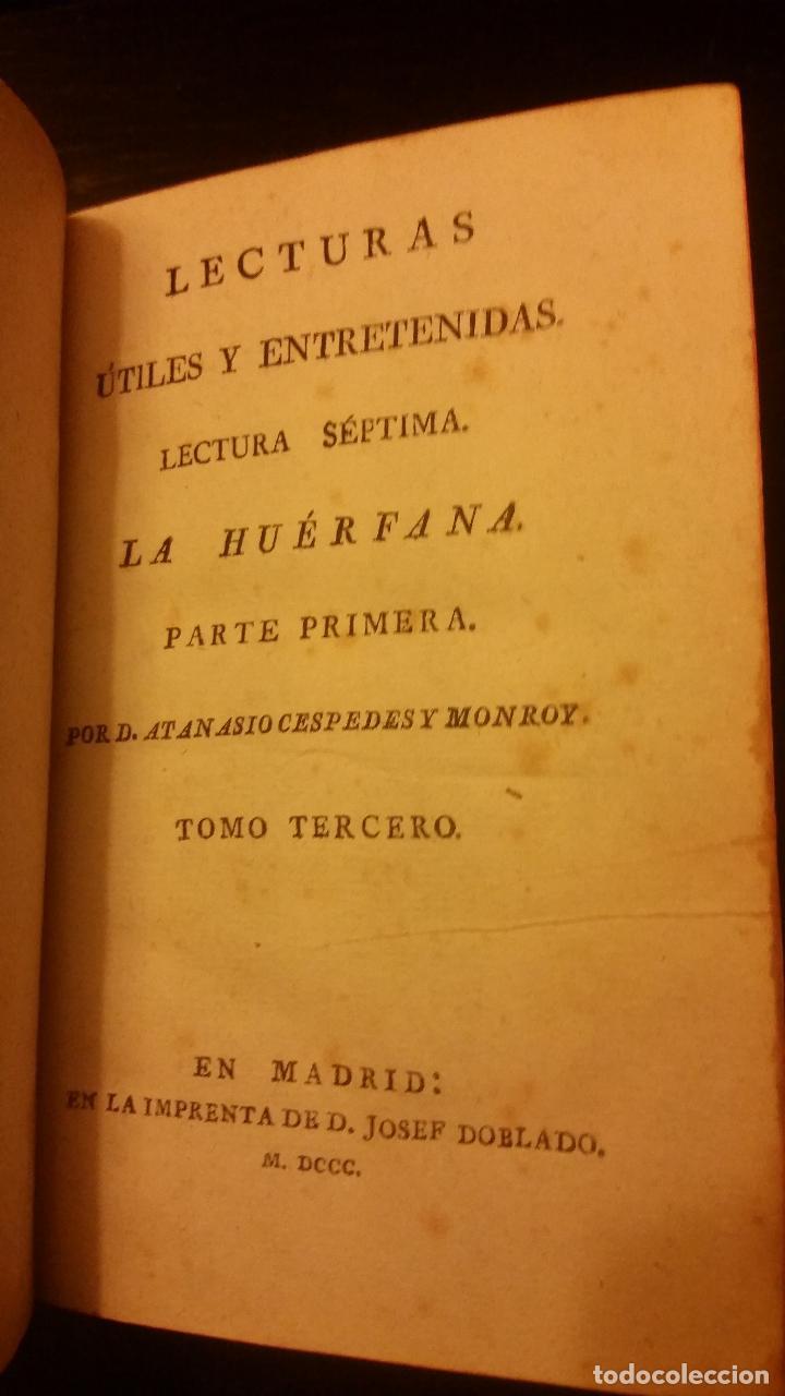 Libros antiguos: 1800-1816 CESPEDES Y MONROY - LECTURAS ÚTILES Y ENTRETENIDAS - 9 TOMOS - Foto 9 - 142849582