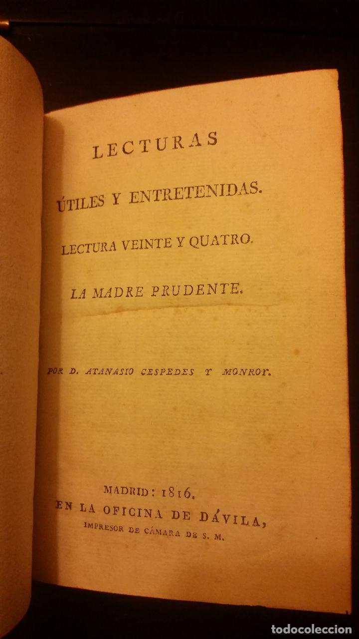 Libros antiguos: 1800-1816 CESPEDES Y MONROY - LECTURAS ÚTILES Y ENTRETENIDAS - 9 TOMOS - Foto 11 - 142849582