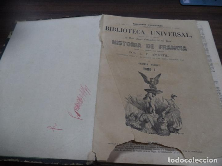 Libros antiguos: BIBLIOTECA UNIVERSL. HISTORIA DE FRANCIA. L. P. ANQUETIL. TOMO I. 1851. VER FOTOS. - Foto 2 - 142859466