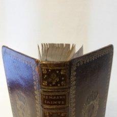 Libros antiguos: 1726 - L'OFFICE DE LA SEMAINE-SAINTE, Á L'USAGE DE LA MAISON DU ROY - ENCUADERNACIÓN. Lote 243967630