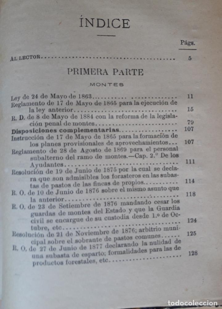 Libros antiguos: Manual de Montes y Guardería Rural-El consultor de los Ayuntamientos 1891 - Foto 3 - 143036730