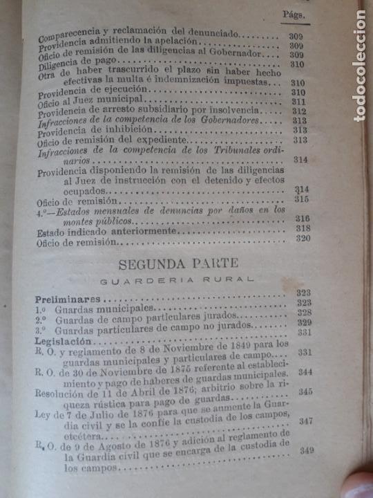 Libros antiguos: Manual de Montes y Guardería Rural-El consultor de los Ayuntamientos 1891 - Foto 4 - 143036730