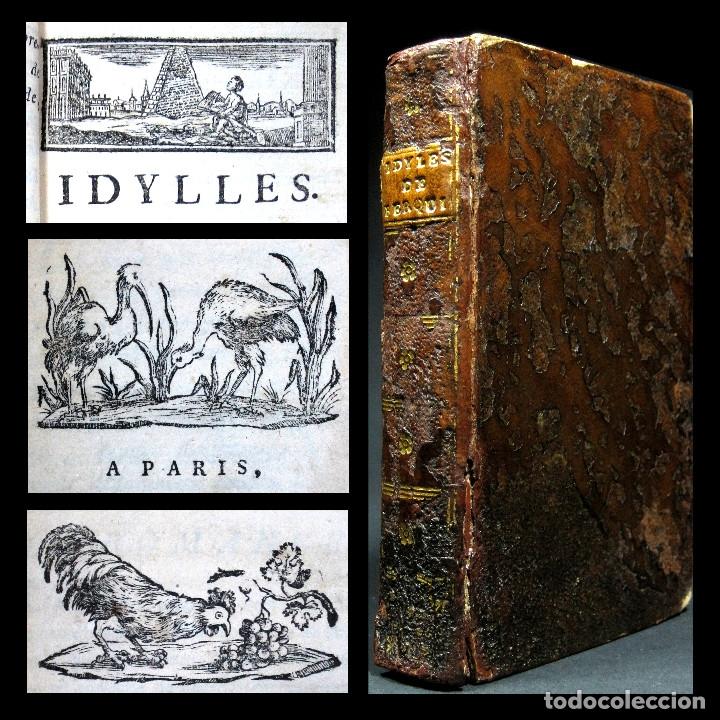AÑO 1787 PARÍS ROMANCES E IDILIOS DE BERQUIN 2 TOMOS EN UN VOLÚMEN GRABADOS ENTRE EL TEXTO (Libros antiguos (hasta 1936), raros y curiosos - Literatura - Narrativa - Otros)