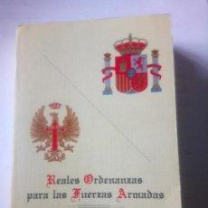 Libros antiguos: REALES ORDENANZAS PARA LAS FUERZAS ARMADAS, 1984. Lote 143170566