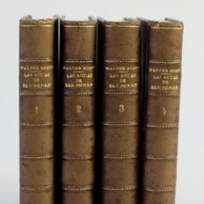 Libros antiguos: LAS AGUAS DE SAN RONAN-WALTER SCOTT-IMPRENTA DE D.FRANCISCO OLIVA, 1843-4 TOMOS. Lote 143181134