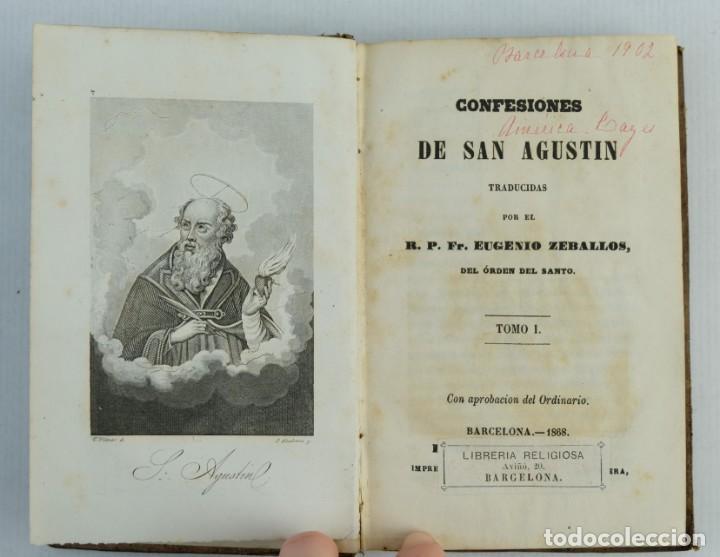 CONFESIONES DE SAN AGUSTIN-EUGENIO ZEBALLOS-EDITADO POR LA LIBRERIA RELIGIOSA, 1868 (Libros Antiguos, Raros y Curiosos - Historia - Otros)