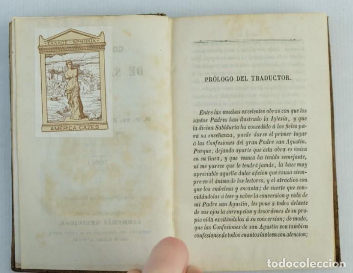 Libros antiguos: Confesiones de San Agustin-Eugenio Zeballos-Editado por la libreria religiosa, 1868 - Foto 6 - 143181150