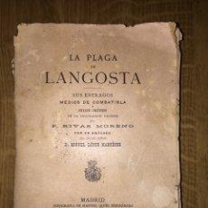 Libros antiguos: LA PLAGA DE LANGOSTA 1877. Lote 143198905