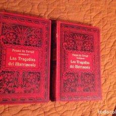 Libros antiguos: PONSON DU TERRAIL-LAS TRAGEDIAS DEL MATRIMONIO-2 TOMOS. Lote 143208750