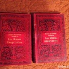 Libros antiguos: PONSON DU TERRAIL-LOS DRAMAS SANGRIENTOS -2 TOMOS. Lote 143208942