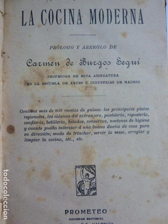 LA COCINA MODERNA. 800 RECETAS. CARMEN DE BURGO SEGUÍ (Libros Antiguos, Raros y Curiosos - Cocina y Gastronomía)