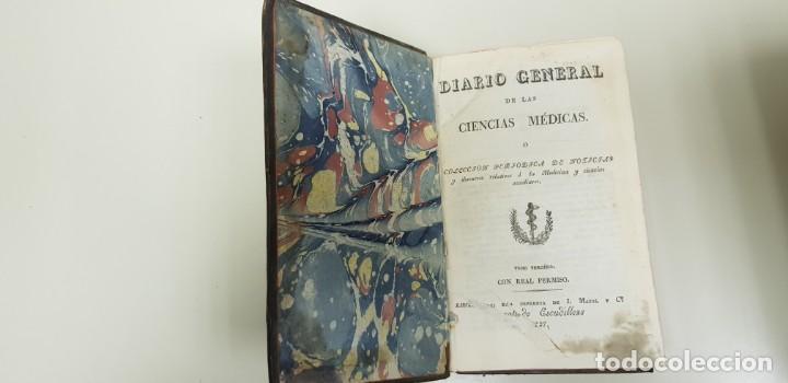 J10- DIARIO GENERAL DE LAS CIENCIAS MEDICAS 1827 334 PAGINAL RARO Y DIFICIL DE CONSEGUIR (Libros Antiguos, Raros y Curiosos - Bellas artes, ocio y coleccionismo - Otros)