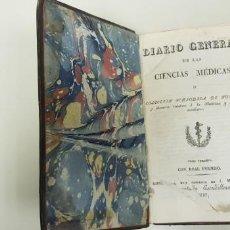 Livres anciens: J10- DIARIO GENERAL DE LAS CIENCIAS MEDICAS 1827 334 PAGINAL RARO Y DIFICIL DE CONSEGUIR. Lote 143398118