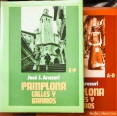 Libros antiguos: PAMPLONA CALLES Y BARRIOS TOMO II. Lote 143564266