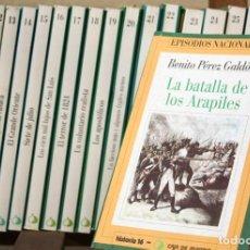 Libros antiguos: EPISODIOS NACIONALES. TOMOS 10 AL 27. Lote 143565086