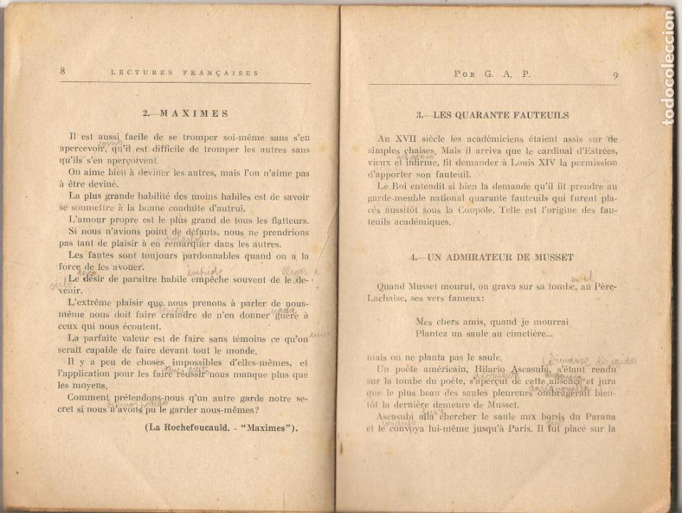 Libros antiguos: LIBRO, SELECCIÓN DE TROZOS DE LITERARIOS. POR G.A.P., PRIMERA EDICIÓN, 1938-IMP. MORET-LA CORUÑA - Foto 2 - 143579998