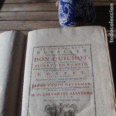 Libros antiguos: QUIJOTE, CERVANTES, DON QUIXOTE, DON QUICHOT, 1746, LA HAYA, GRAN PAPEL. Lote 112105907