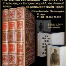 Libros antiguos: PCBROS - HISTORIA DE LOS GRIEGOS - VÍCTOR DURUY - MONTANER Y SIMÓN 1890/91. Lote 157833430